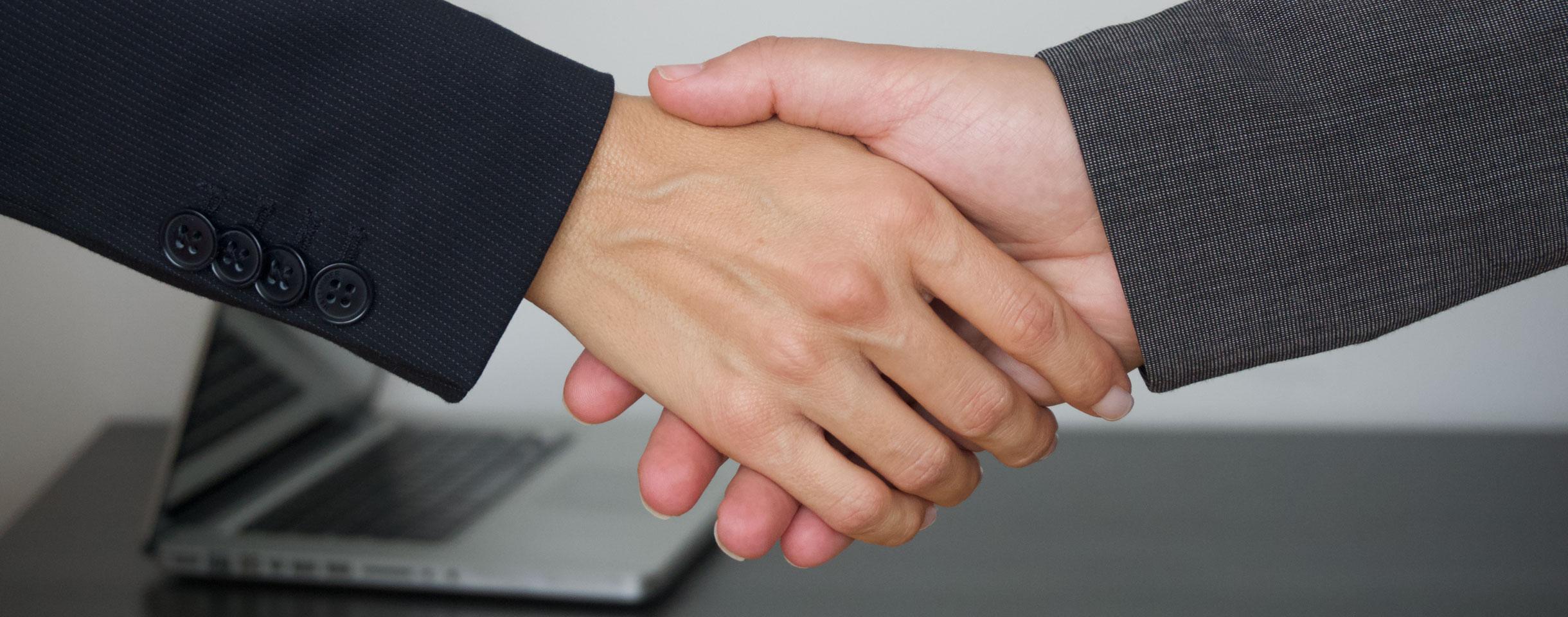 hand shake slide
